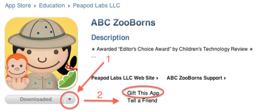 Gift ABC ZooBorns App